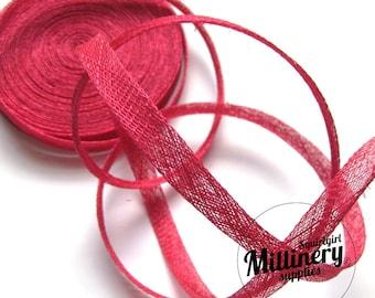 2 yards 1 cm Wide Fuschia Pink Sinamay Bias Binding for Millinery Hats & Fascinators