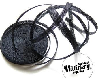 Navy Blue Sinamay Bias Binding for Millinery Hats & Fascinators (2 yards)