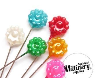 Set of 30 Vintage Inspired Flower Pins