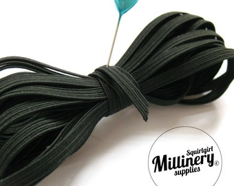 Black 5mm Elastic for Sewing, Headbands & Lingerie - 5m