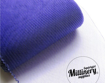 6 Inch (15cm) Wide Crinoline (Crin, Horsehair Braid) for Hats, Millinery, and Fascinators - Purple