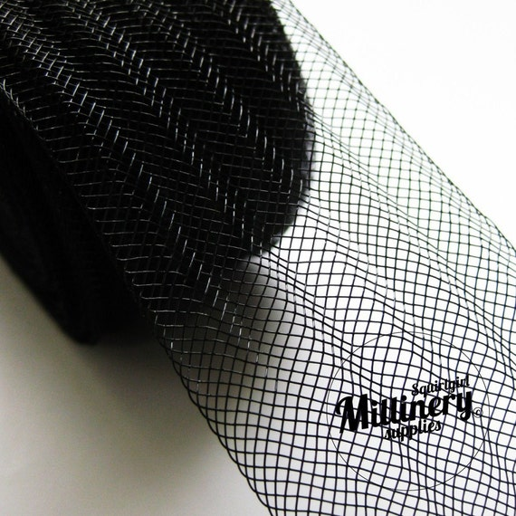 3 Yards Pleated Black 2 inch wide Crin Crinoline Horsehair Braid for Hats and Fascinators