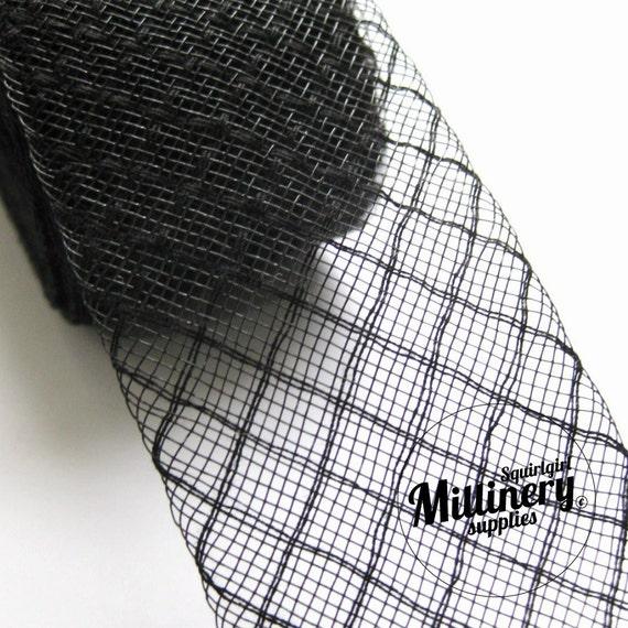 3 Yards Black 2 inch wide Diamond Crin Crinoline Horsehair Braid for Hats and Fascinators