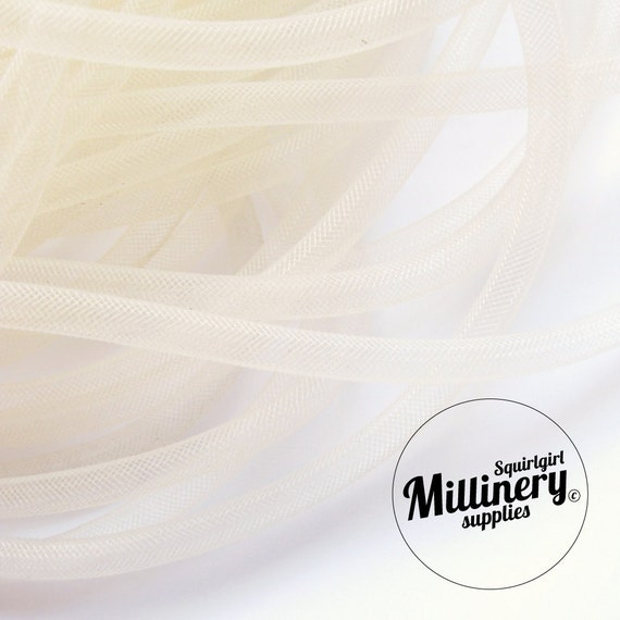 3 Yards Ivory 8mm Width Tube Crin Crinoline Horsehair Braid for Hats and Fascinators