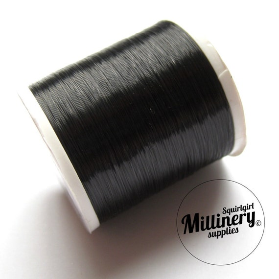 Invisible Nylon Sewing Thread - Smoke Color (For Dark Fabrics) 200 Yard Spool