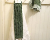 Hand Knit Washcloth & Back Scrubber