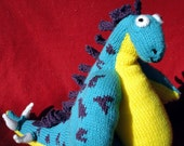 Hand Knit Stanley the Stegosaurus