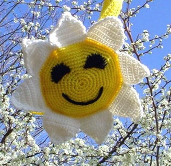 Sunflower Child's Backpack - Crocheted