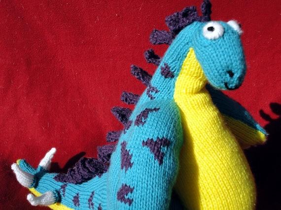 Hand Knit Stanley the Stegosaurus