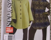 Uncut 2006 Butterick See and Sew B4901 Pattern - Size A 8-10-12-14