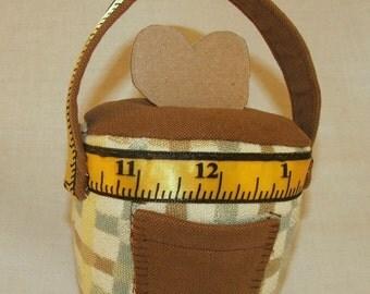 Fabric Basket Pincushion