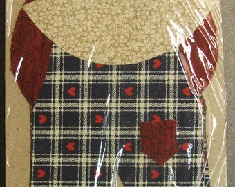 Hand Cut Overall Sam Quilt Applique Pieces