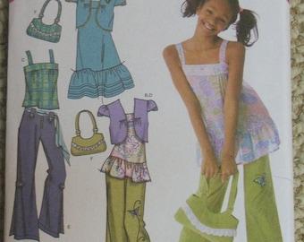Simplicity 4208 That's So Raven pants tunic dress bolero and purse pattern Size 8-10-12-14-16
