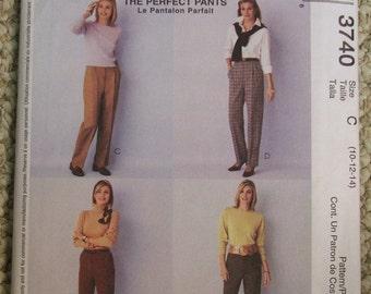 McCalls 3740 Palmer Pletsch Perfect Pants Pattern Size 10-12-14