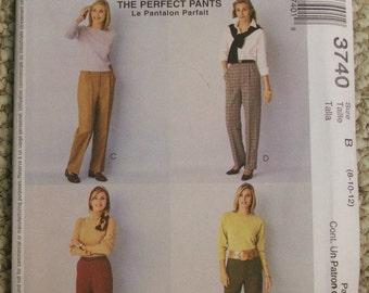 McCalls 3740 Palmer Pletsch Perfect Pants Pattern Size 8-10-12