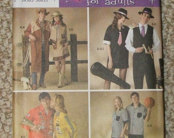 Simplicity Pattern 3683 Couple Costumes for adults sizes XS-S-M-L-Xl