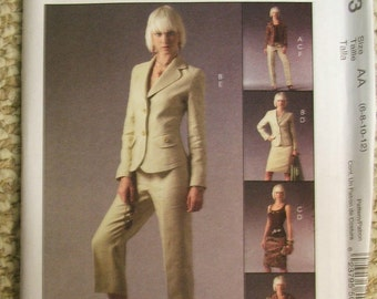 McCalls M5063 lined jacket, top, skirt and pants Pattern Size 6-8-10-12