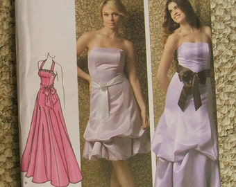 simplicity 3885, jessica mcclintock prom dress pattern sizes 14-16-18-20-22