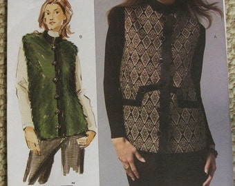 Vogue V2914 vest a Today's Fit By Sandra Betzina all sizes included in one pattern