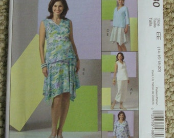 McCall's M4880 Maternity Tops, Skirt and pants in two lengths Sizes 14-16-18-20