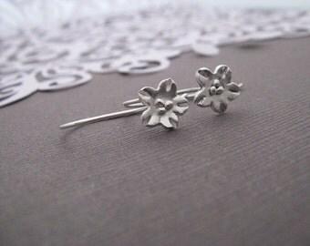 Cherry Blossom Fine Silver  Hooks