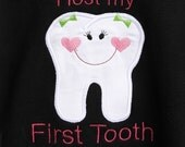 I Lost My FIRST TOOTH Custom Boutique Appliqued Shirt, FREE MONOGRAMMING, Long Sleeves or short, Sizes 3-6months to Size 12