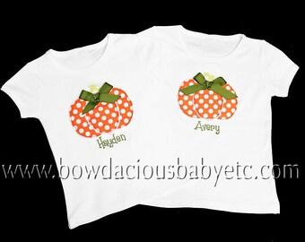 Sibling Halloween Shirt, Girls Halloween Shirt, Boys Halloween Shirt, Pumpkin Shirt, Pumpkin Wagon, Personalized Thanksgiving Shirt