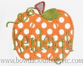 Personalized Pumpkin Shirt, Monogrammed Pumpkin Shirt, Girls Thanksgiving Shirt, Girls Halloween Shirt, Custom Pumpkin Shirt, Thanksgiving