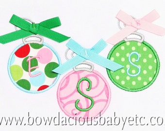 Boutique Christmas Ornament Shirt, Monogrammed,  Appliqued, Custom Fabric Choices and Colors, 1st, 2nd, 3rd, 4th, 5th, 6th, 7th, 8th, 9th