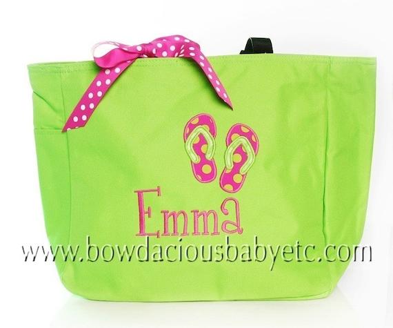 Swim Lesson Bag: Items Similar To Personalized Beach Tote Bag, Swim Tote