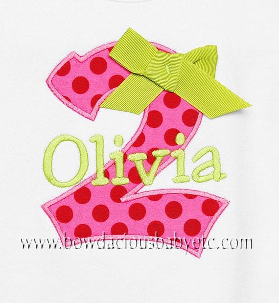 Girls Personalized Birthday Shirt, Birthday Number Shirt, Birthday Gift, Custom Fabrics, Colors, and Font, Girls Birthday Shirt