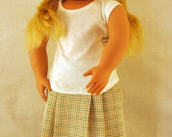 Pleated Skirt and Tee for American Girl Doll
