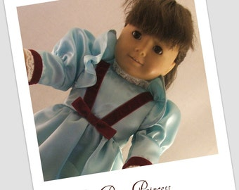 """Elegant Blue Dress for American Doll and other 18"""" dolls"""