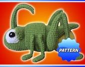 Simon the Grasshopper Amigurumi Crochet Pattern PDF