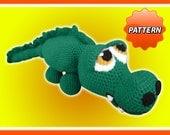 Jacques the Crocodile Amigurumi Crochet PDF Pattern