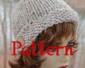 Knitting Pattern PDF for a Cloche Style Beanie super bulky yarn