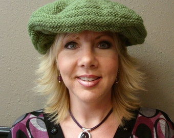 Green Reversable Slouch Hat