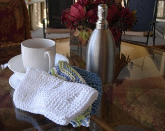 Hand Knit Cloth Set - Dish cloth - Wash Cloth