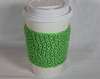 Green Coffee Cup Cozy