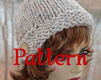 Knitting Pattern PDF for a Cloche Style Beanie super bulky yarn