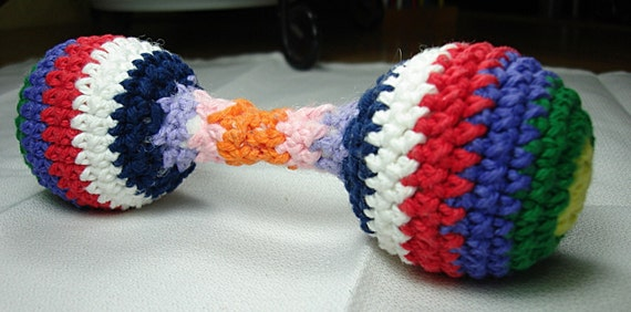 Crochet Pattern PDF for Baby Rattle - Pet tug