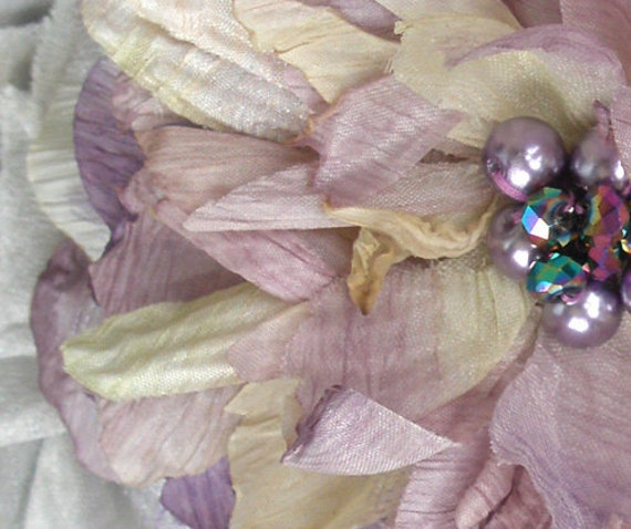 Sale, Brooch, Lovely Lavender Flower and Pearls