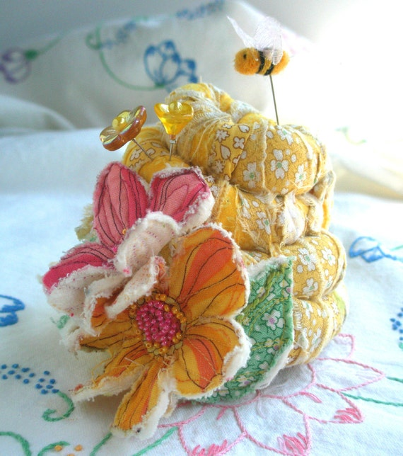 Sweet and Shabby Beehive Pincushion