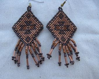 Navajo Rug Design In Copper