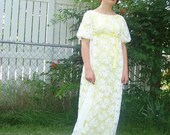 Cute Yellow  and Daisies Bridesmaids or Formalwear Dress