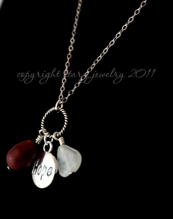 Fertility Jewelry- Pomegranate, Moonstone and Hope Fertility Necklace