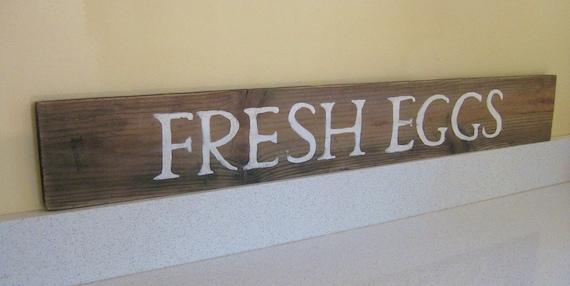 Fresh Eggs Wooden Sign