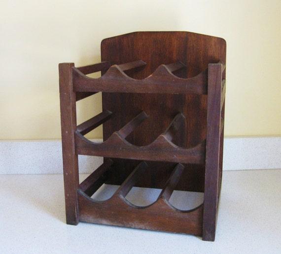 Vintage Wooden Wine Rack By Lemontreefarm On Etsy