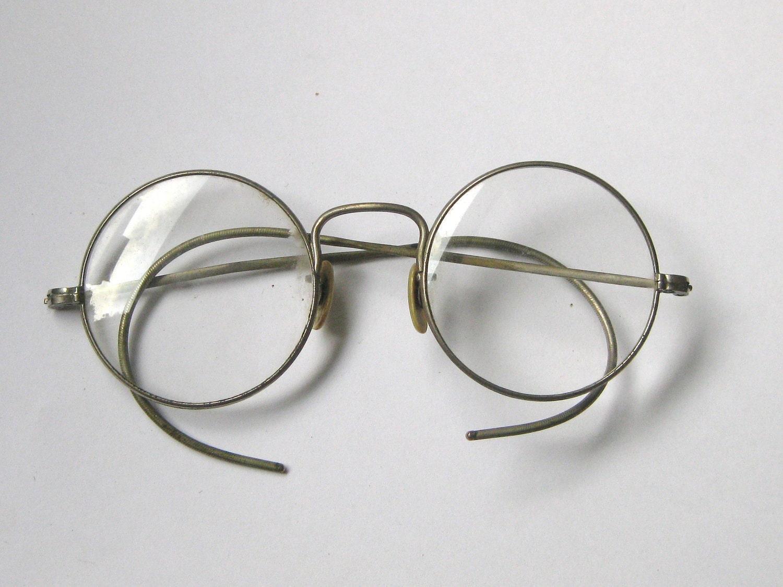 Antique Round Silver Eyeglasses