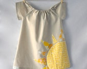 Here Comes The Sun Applique Dress